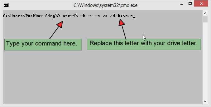 Command for removing Shortcut Virus