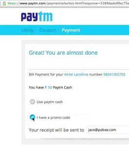 Latest Paytm offers for 22nd Feb