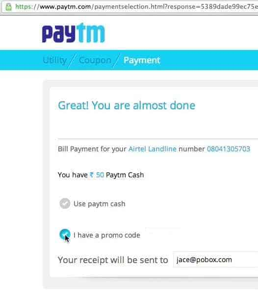 Get 100% cashback at Paytm(offer valid for new users only) 1