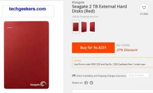 Get 1 TB external HardDisk at 3271rs only