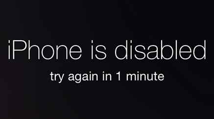 iphone is disabled try again
