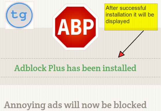Adblock Plus will be successfully installed