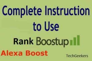 Improving Alexa Ranking with Rank boost up tool