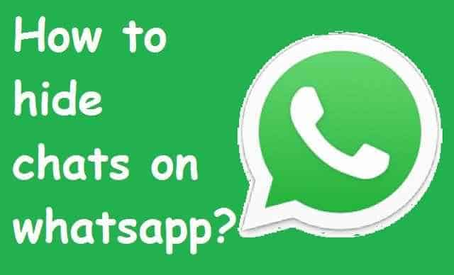 How to hide chat in whatsapp