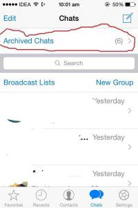 How to see archieve conversation on whatsapp