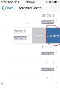 See archieve message on whatsapp trick