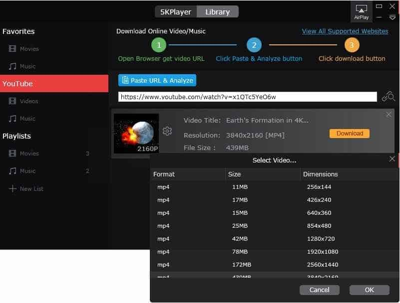 5k player download videos 5