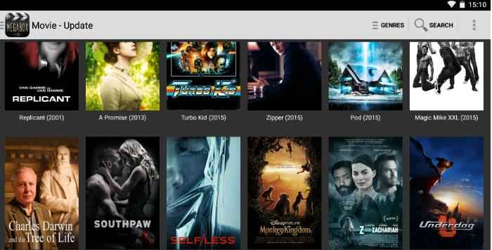 Megabox hd app movie list