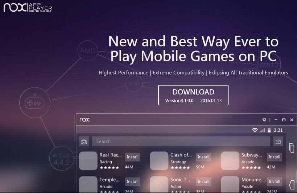 Nox app player bignox