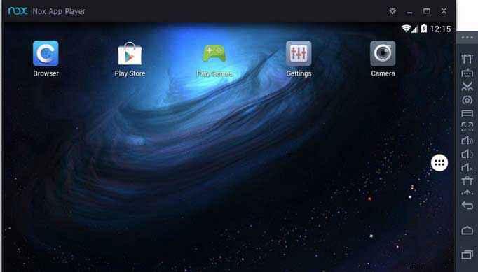 nox app player home screen