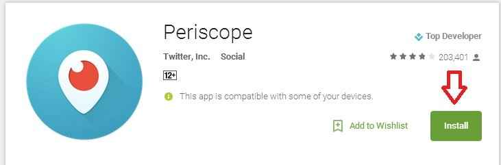 install periscope on nox app player