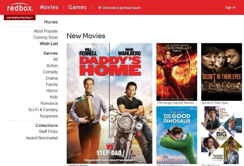 redbox portals for movie streaming