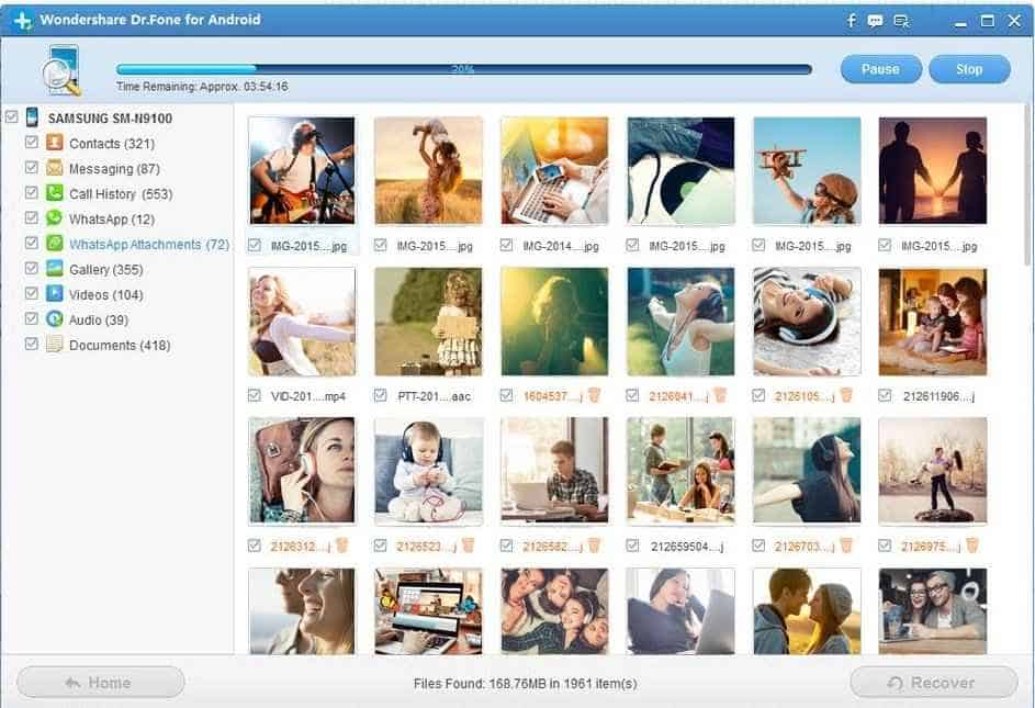 wondershare dr. Fone android recovery tool