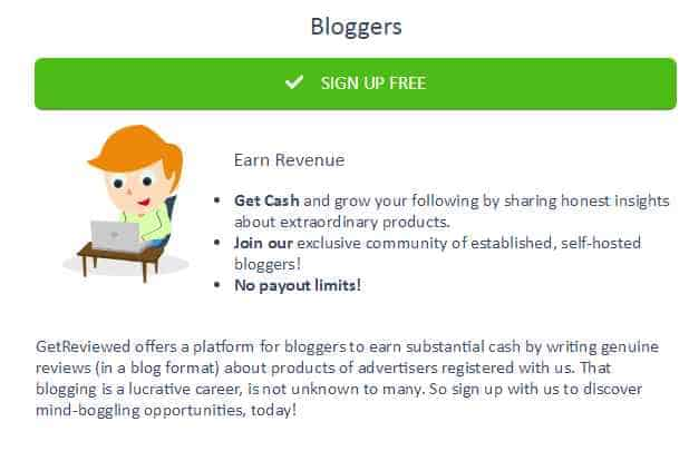 Get Reviewed for bloggers