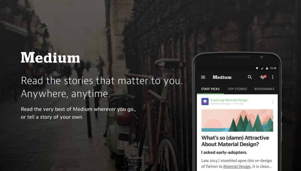 Medium app for android