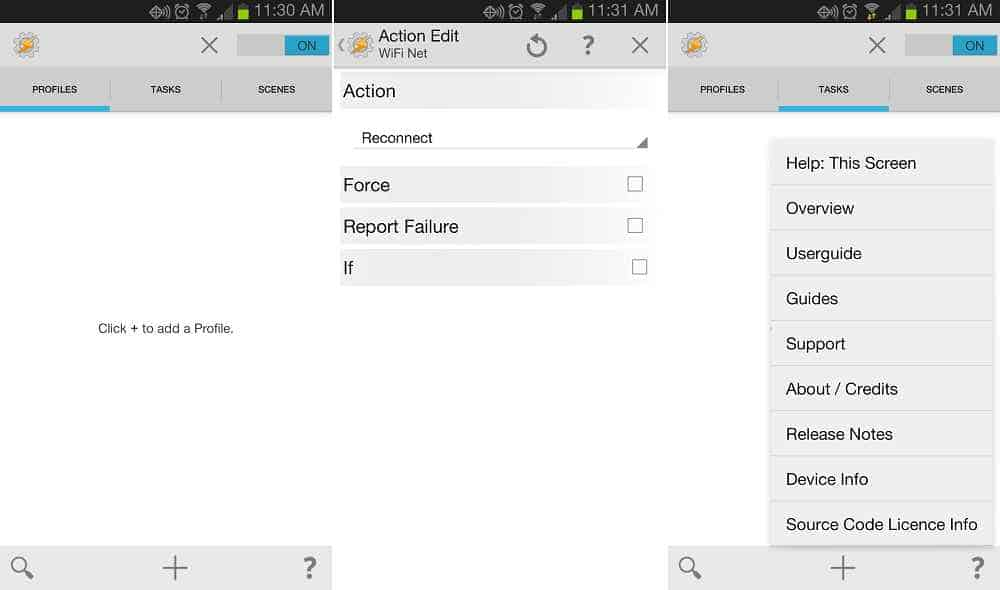 Tasker- android app