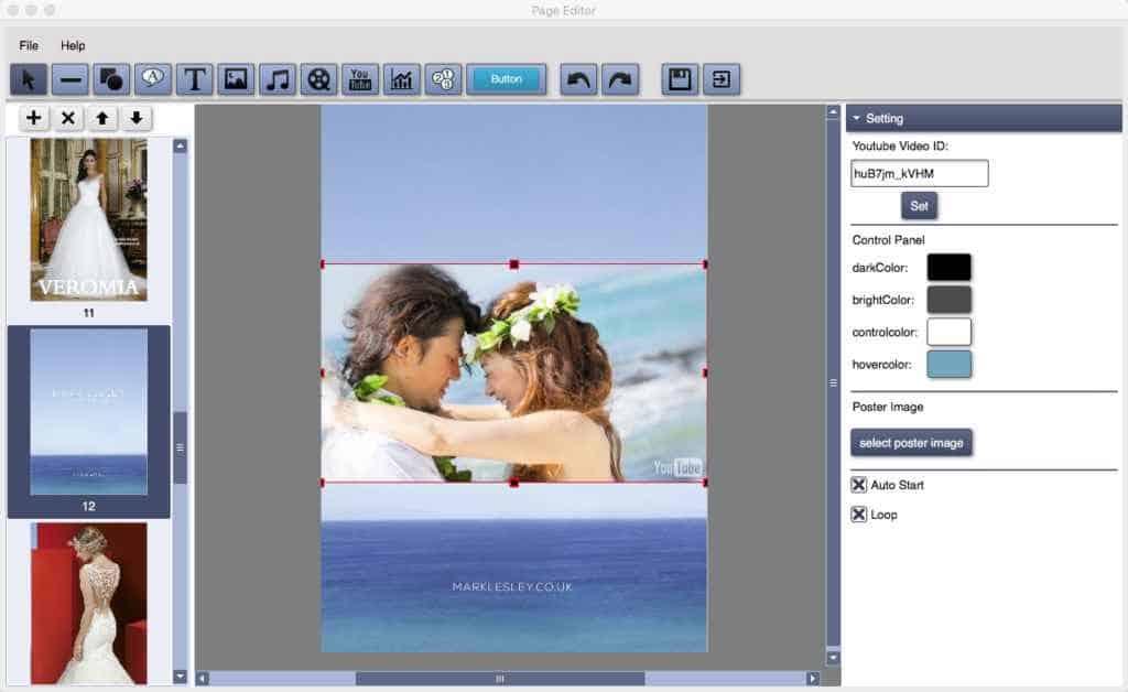 Adding multimedia in flipbook