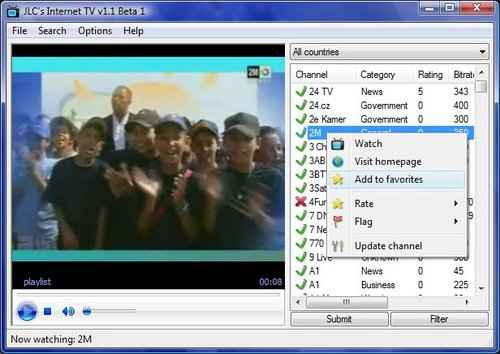 JLC internet tv software to watch live tv online