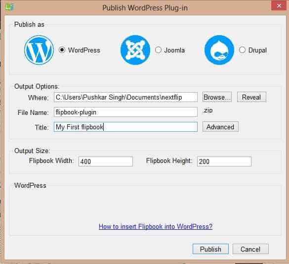 Publishing wordpress plugin