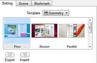 Templates in flipbook maker pro for windows and mac