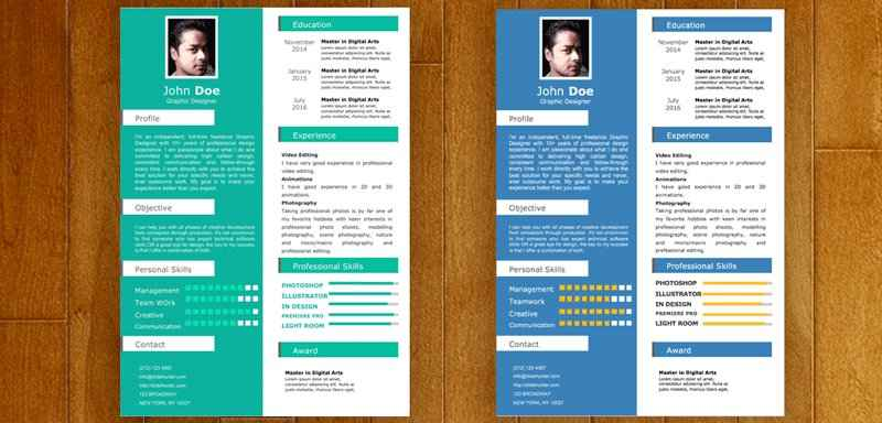 One Page Resume Powerpoint  Powerpoint Resume