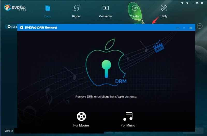 Remove DRM Protection from Video and Audio with DVDFab DRM Removal for Apple 5