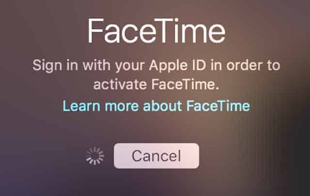 FaceTime activation