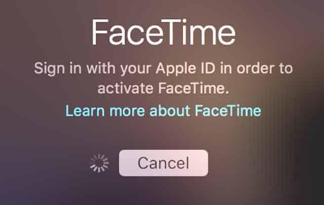 FaceTime activation