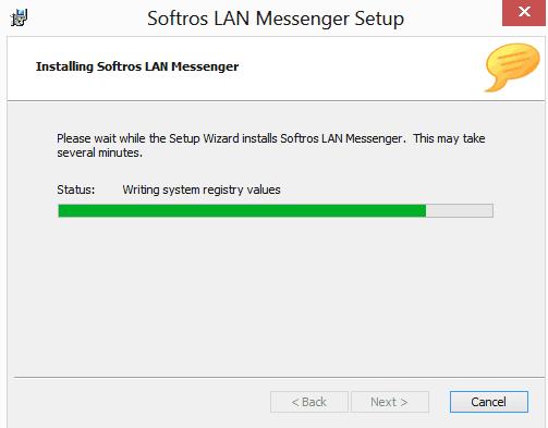 installing progress