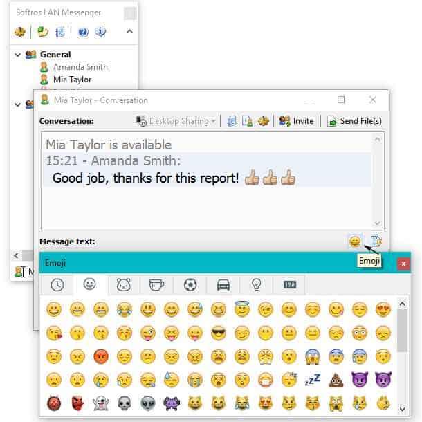 Send Instant Message over LAN using Softros LAN Messenger 1