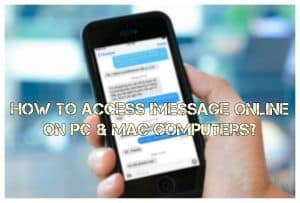 How to access iMessage app online?