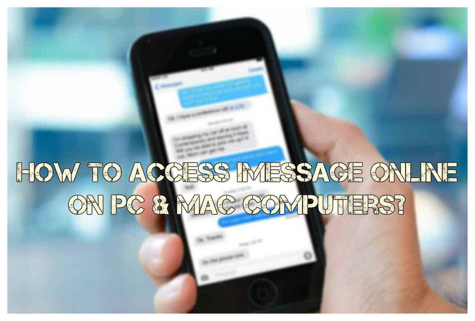 How to access iMessage app online? 3
