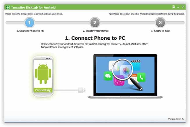 Recover Lost Samsung Contacts with DiskLab for Android 2