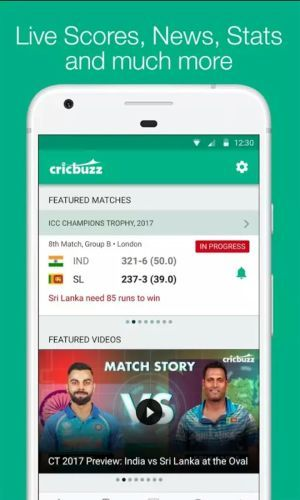 CRICKBUZZ app