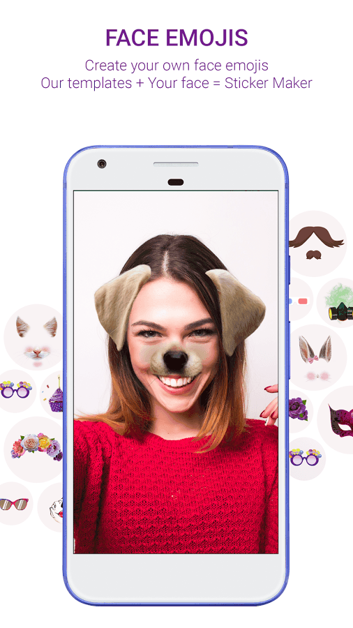 Sticker Market: Access Custom Face Emojis, GIFs & Stickers for Messaging & Web Experience! 2