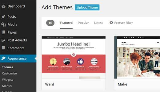 Uploading a WordPress Theme Zip file