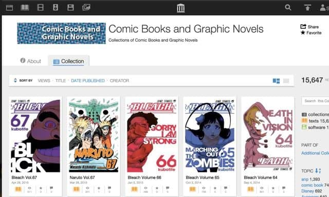 Free comics & graphic novels at the Internet Archive