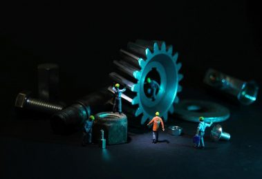 Mechanical Engineering, Gear, Miniature Figures