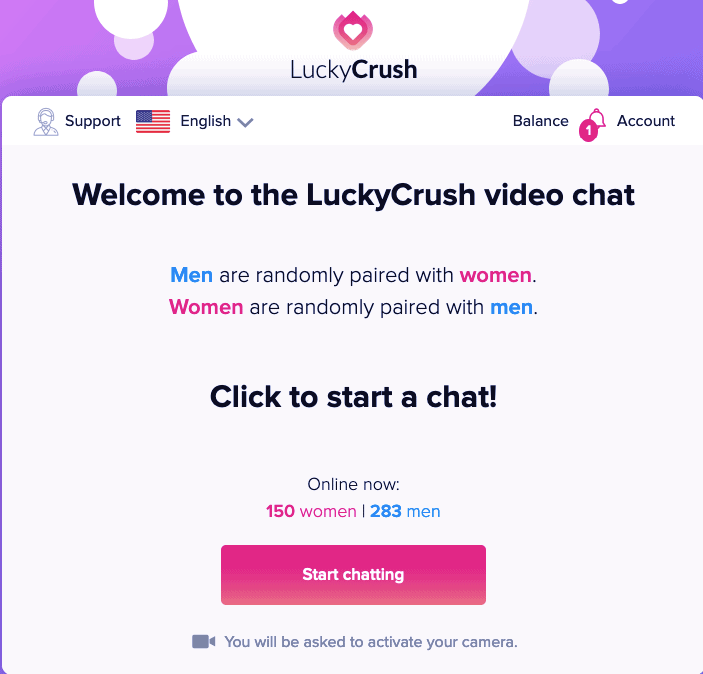 Feeling Lonely? Enjoy Live Random Video Chat & Flirt on LuckyCrush 2