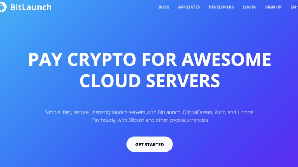 Bitlaunch Homepage