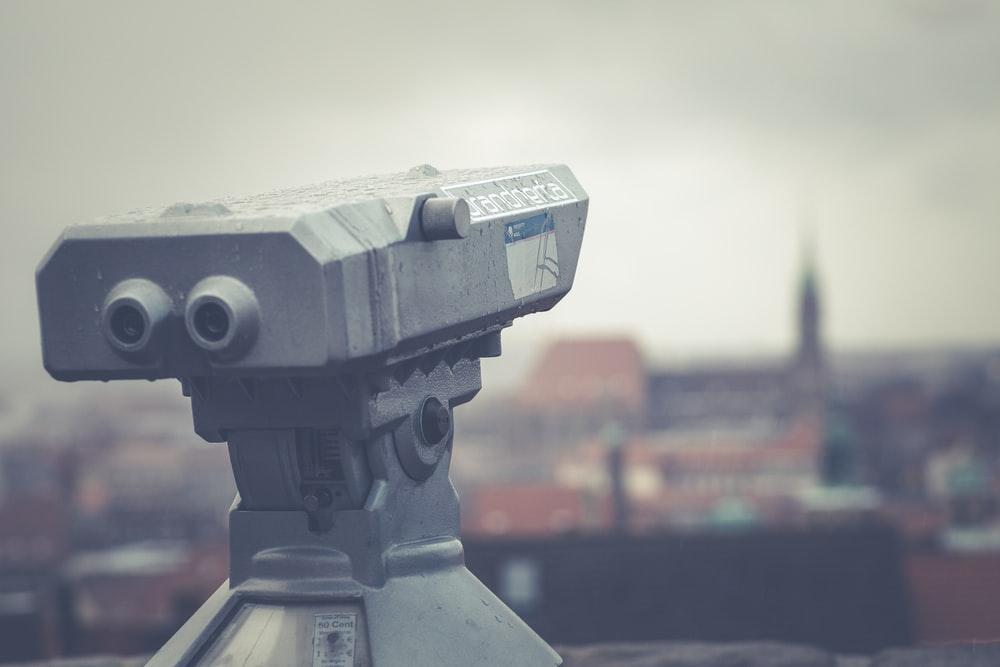 closeup photo of tower viewer